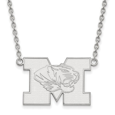 Missouri Tigers Sterling Silver Pendant Necklace
