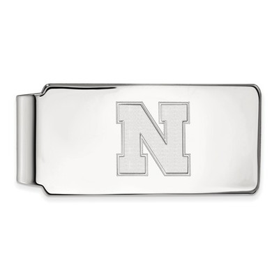 Nebraska Huskers N Sterling Silver Money Clip