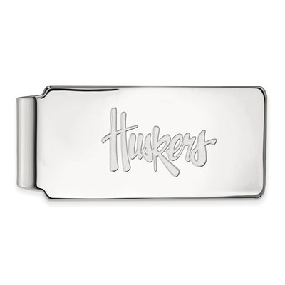 Nebraska Huskers Sterling Silver Money Clip