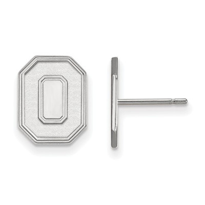 Ohio State Buckeyes O Logo Sterling Silver Post Earrings