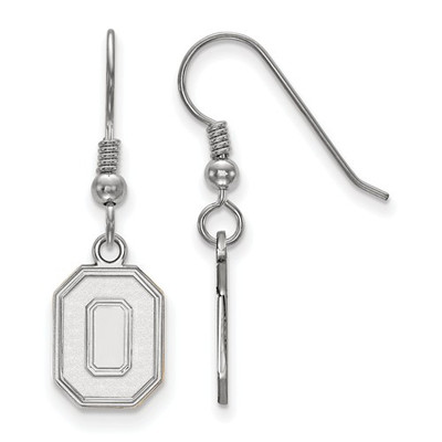 Ohio State Buckeyes O Logo Sterling Silver Dangle Earrings