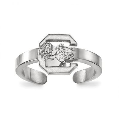 South Carolina Gamecocks Sterling Silver Toe Ring