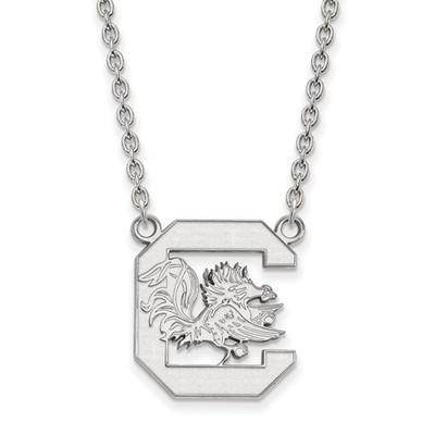 South Carolina Gamecocks Silver Pendant Necklace