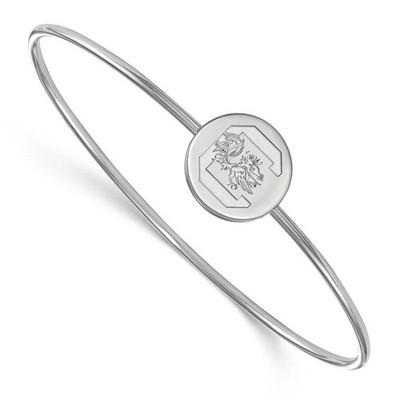 SC Gamecocks Circle Sterling Silver Thin Bangle