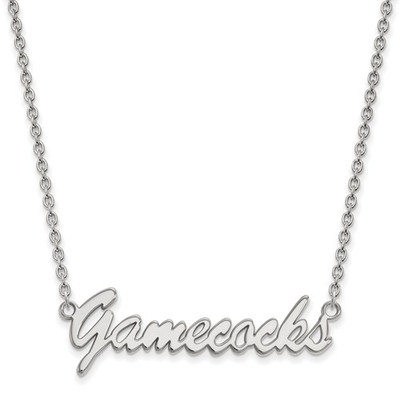 South Carolina Gamecocks Script Sterling Silver Necklace