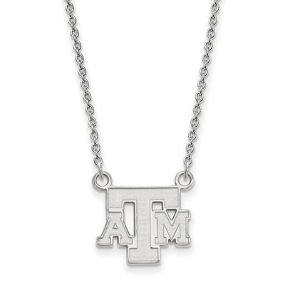 Texas A&M Aggies Sterling Silver Letter Necklace