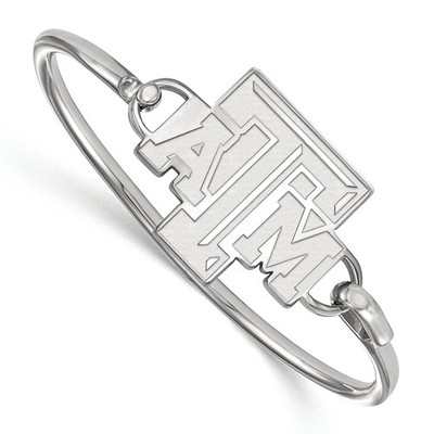 Texas A&M Aggies Sterling Silver Bangle Bracelet