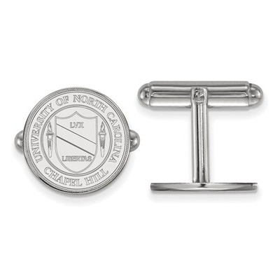 UNC Crest Sterling Silver Tar Heels Cufflinks