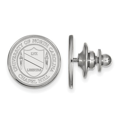 UNC Crest Sterling Silver Tar Heels Lapel Pin