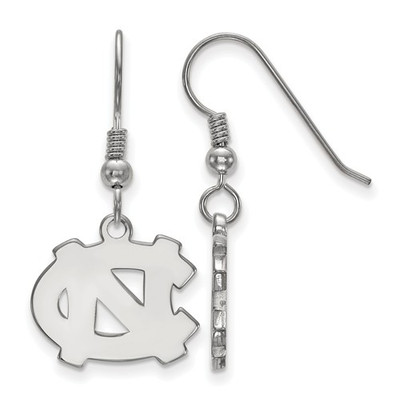 UNC Tar Heels Sterling Silver Dangle Earrings