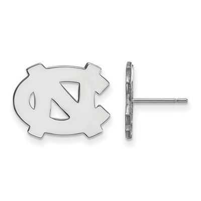 UNC Tar Heels Sterling Silver Post Earrings