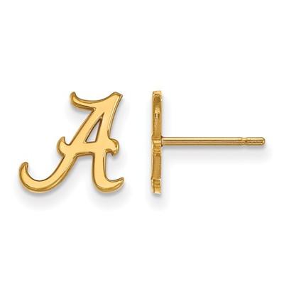 Alabama Crimson Tide A 14K Gold Post Earrings