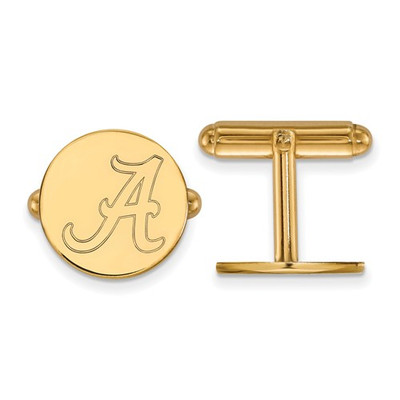 Alabama Crimson Tide 14K Gold A Logo Cufflinks