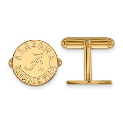 Alabama Crimson Tide Circle 14K Gold Cufflinks