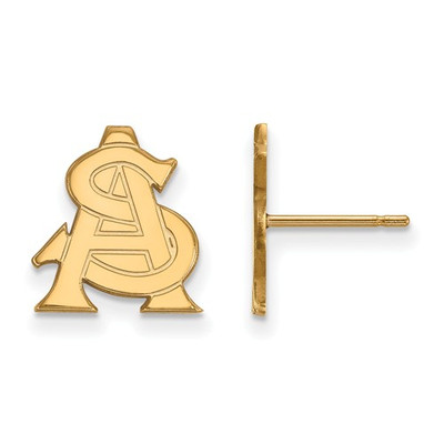 Arizona State AS Sun Devils 14K Gold Post Earrings
