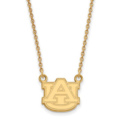 Auburn Tigers AU 14K Gold Pendant Necklace