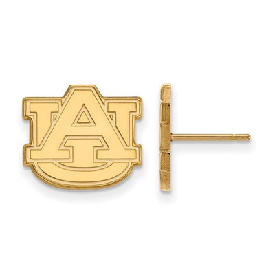 Auburn Tigers AU Logo 14K Gold Post Earrings