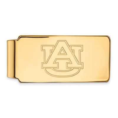 Auburn Tigers AU Logo 14K Gold Money Clip