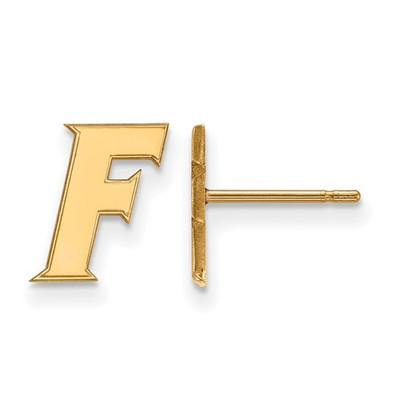 Florida Gators F Logo 14K Gold Post Earrings