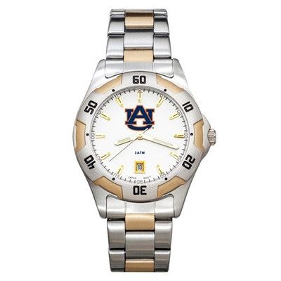 Auburn Tigers Men's All Pro Two Tone Watch