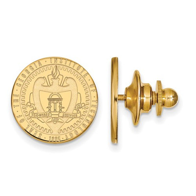 Georgia Tech School Crest 14K Gold Lapel Pin
