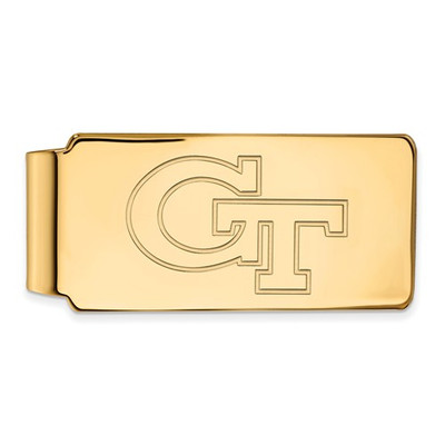Georgia Tech Yellow Jackets GT 14K Gold Money Clip