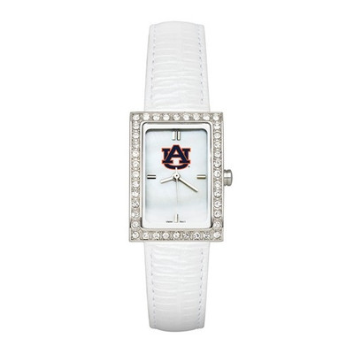 Auburn Tigers Women's Allure White Leather Strap Watch