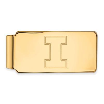 Illinois Fighting Illini I Logo 14K Gold Money Clip