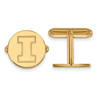 Illinois Fighting Illini I Logo 14K Gold Cufflinks