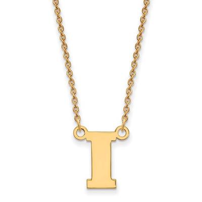 Iowa Hawkeyes I Logo 14K Gold Pendant Necklace