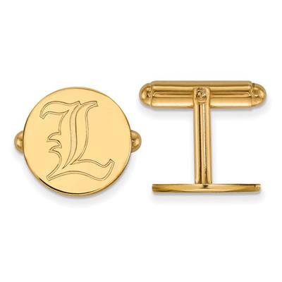 Louisville Cardinals L Logo 14K Gold Cufflinks