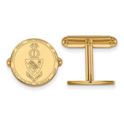 Miami Crest 14K Gold Hurricanes Cufflinks