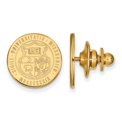 Missouri School Crest Tigers 14K Gold Lapel Pin