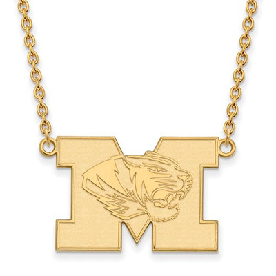 Missouri Tigers 14K Gold M Pendant Necklace