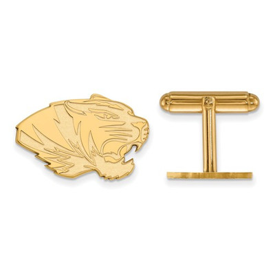 Missouri Tigers 14K Gold Tiger Cufflinks