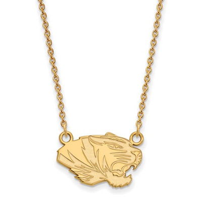 Missouri Tigers 14K Gold Tiger Pendant Necklace