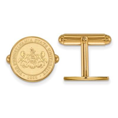 Penn State Crest Nittany Lions 14K Gold Cufflinks