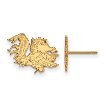 SC Gamecocks Mascot 14K Gold Post Earrings