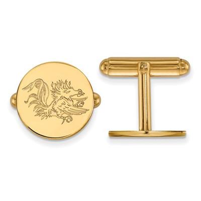 SC Gamecocks Mascot 14K Gold Cufflinks