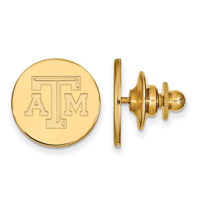 Texas A&M Aggies Letter Logo 14K Gold Lapel Pin