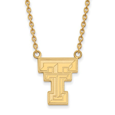 Texas Tech Red Raiders 14K Gold TT Pendant Necklace