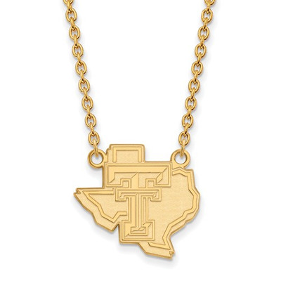 Texas Tech Red Raiders 14K Gold Pendant Necklace