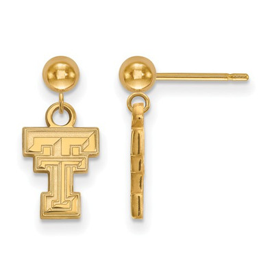 Texas Tech Red Raiders 14K Gold Dangle Earrings