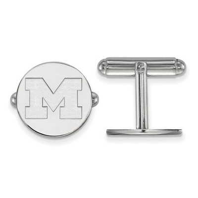 Michigan Wolverines Sterling Silver Cufflinks