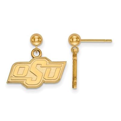 Oklahoma State Cowboys 14K Gold Dangle Ball Earrings