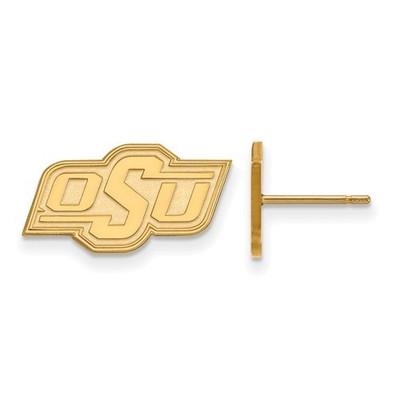 Oklahoma State Cowboys 14K Gold Post Earrings