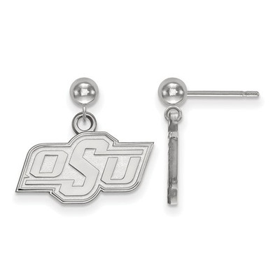 Oklahoma State Cowboys Sterling Silver Dangle Ball Earrings