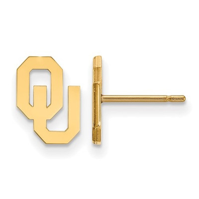 Oklahoma Sooners 14K Gold Post Earrings