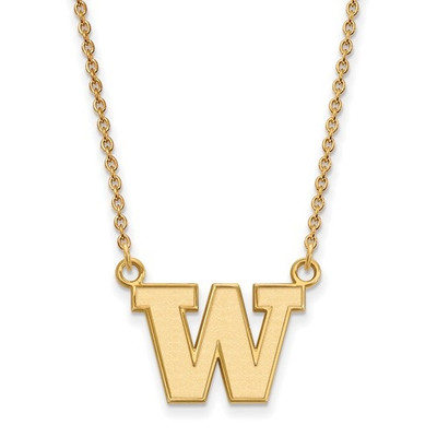 Washington Huskies 14K Gold Pendant Necklace