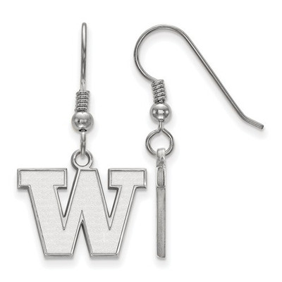 Washington Huskies Sterling Silver Dangle Earrings